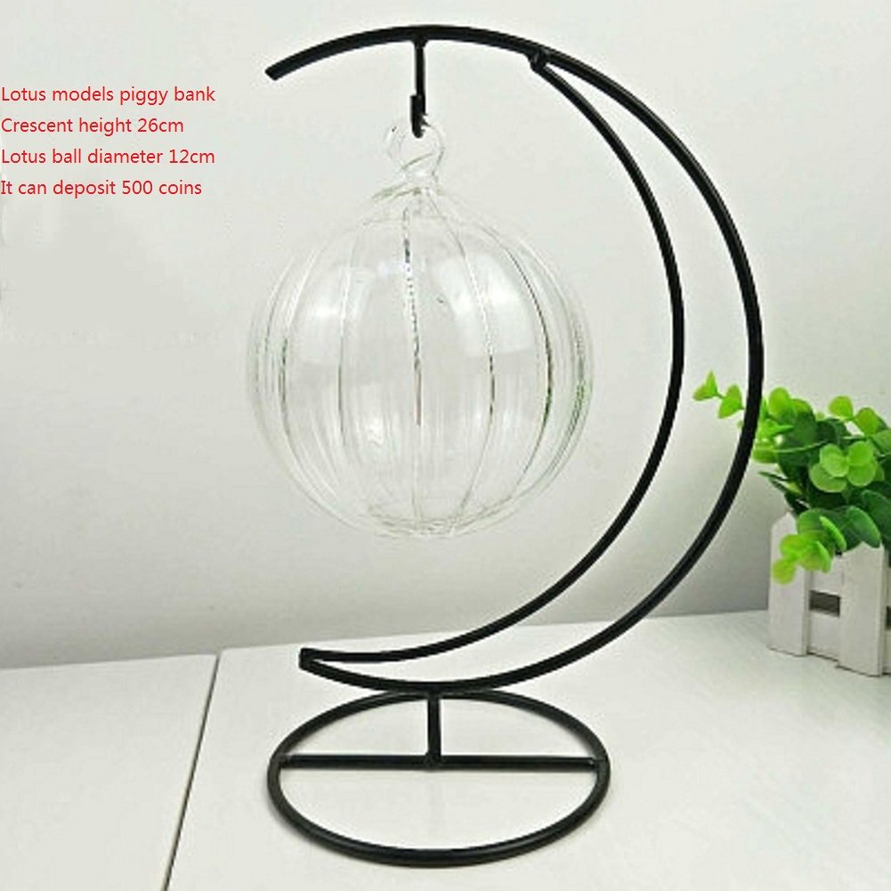 Vidrio moderno simple moneda jar personalidad transparente vidrio adornos hucha infantil creativa-H