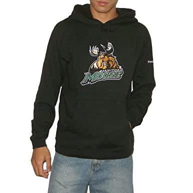 ba85b3163cc AHL Manitoba Moose Mens Athletic Warm Pullover Hoodie   Sweatshirt Jacket  with Embroidered Logo - Black