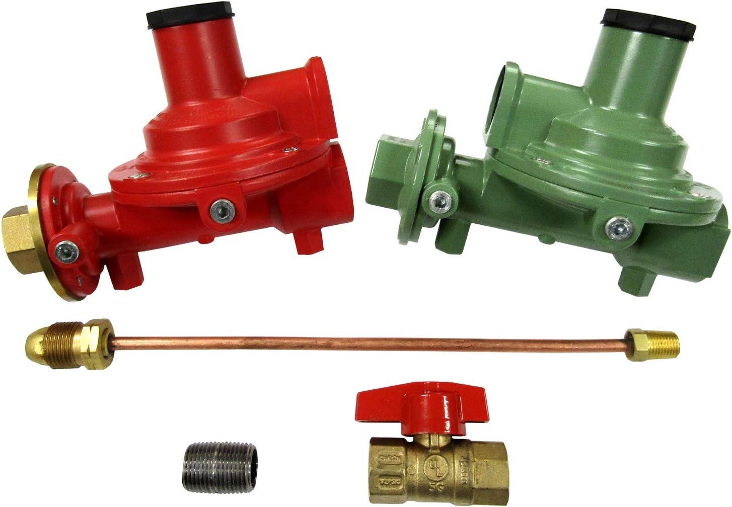 "Fairview Compact Regulator Home Propane Supply Kit 3/4"" Straight Through"