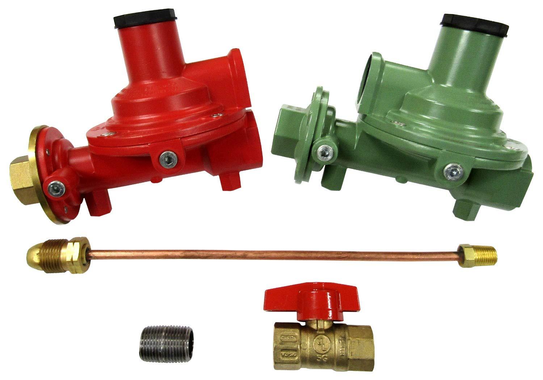 Fairview Compact Regulator Home Propane Supply Kit 3/4'' Straight Through