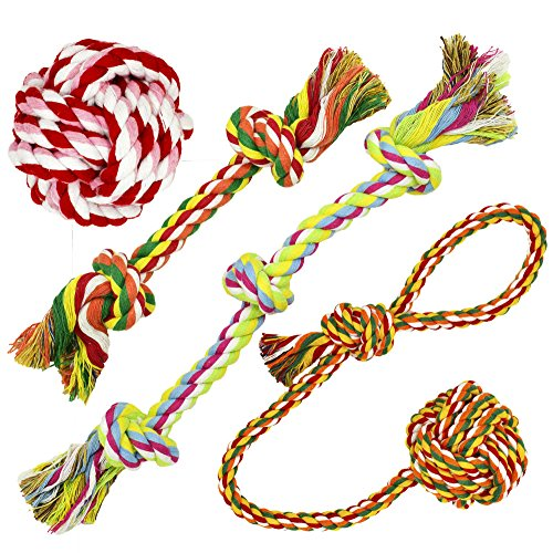 Standie Mark, Pet Puppy Dog Rope Toys for Medium to Big Dogs (Pack of 4)