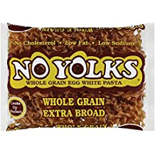 No Yolks Whole Grain Extra Broad Egg White Noodles, 12 oz (Pack of 12)