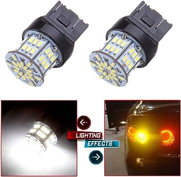 cciyu 4 Pack White 7443 64-SMD Backup Reverse LED Light Bulbs 7440 7444 7441 992 992A W21W 090034-5210-1610265