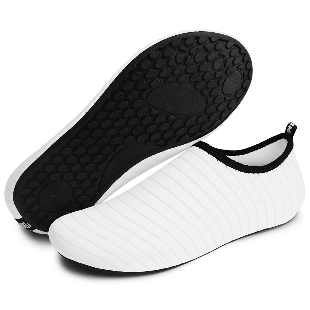 Barerun Kids Men Women New Light Weight Comfort Sole Easy Walking Athletic Slip On Water Shoes (37/38,6.5-7.5 B(M)) White …