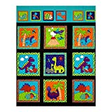 RJR Fashion Fabrics Daze Dino Panel Fabric, Multi