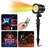 Christmas Light Projector, Goutoday Laser Lights Remote Outdoor&Indoor Projector Lights, 5 Patterns Red & Green Laser Light Show Decorative Party Light Landscape Spotlight with IP65 Waterproof Review