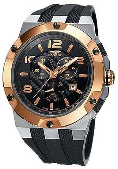 Reloj Sandoz Caractere 81289-09 Hombre caja titanio bicolor: Amazon.es: Relojes