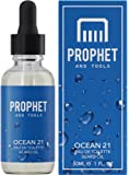 Prophet and Tools Ocean 21 Beard Oil - Fresh Cooling Fragrant - The All-In-One Softener, Shine, Growth and Keeps Hairs Clean - Vegan and Nuts-Free