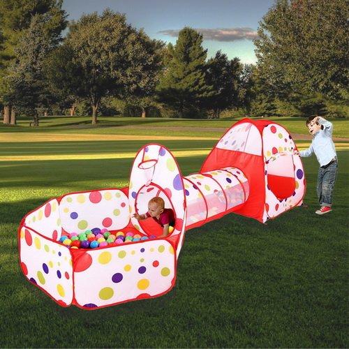 53 opinioni per MAIKEHIGH Indoor / Outdoor Tunnel gioco e Play Tent Cubby-Tube-tenda canadese 3