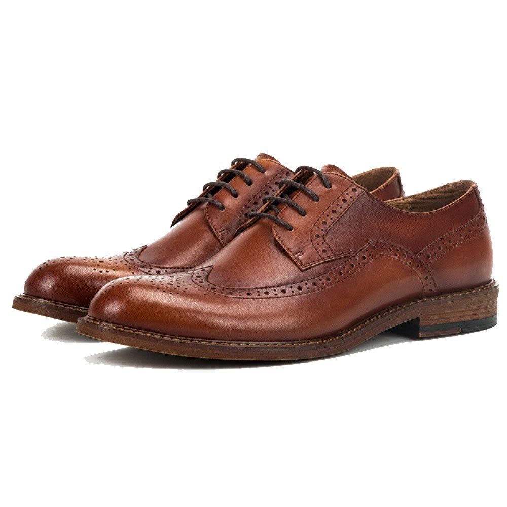 NIUWJ Männer Jugend Geschäft British Retro Derby Schuhe Casual Fashion Lederschuhe