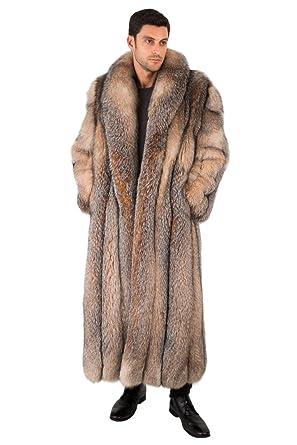 08816502a448 Madison Avenue Mall Mens Real Fox Fur Coat Long Full Length - Crystal Fox  SZ 40