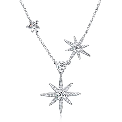 9a2c85034 Star Necklace with Swarovski Rhinestone, 925 Sterling Silver Pendant  Necklaces