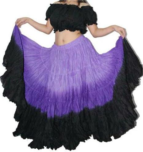 25 yarda del algodón de la falda gitana tribal danza del vientre ...