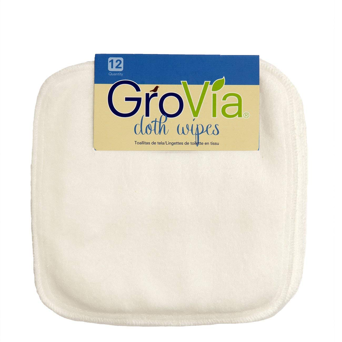 12 Count Abalone GroVia Reusable Cloth Diapering Wipes