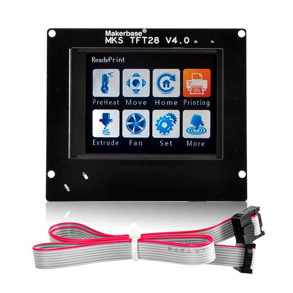Gowoops 3D Printer Controller LCD Touch Sreen for Arduino, MKS TFT28 2 8''  LCD Display, Suitable for MKS Base Gen Mini SBASE Board, TFT28 Can Work