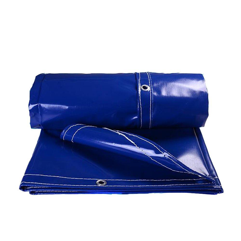 YNN ターポリン日焼け止め布防水保温日焼け止め屋外キャンバス厚い雨布防水布防水布防水布0.05mm 500g/m² 防水シート (色 : Blue, サイズ さいず : 4x 5m) B07FNSB7RG 4x 5m|Blue Blue 4x 5m