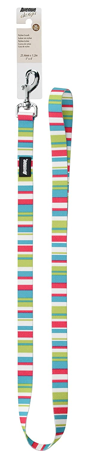 Avenue 75368 Nylon Leash Candy Stripe, bluee, XL