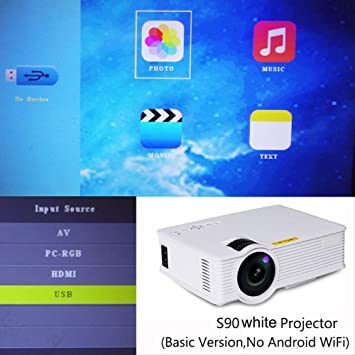 SMEI Portátil Android 6,0 WiFi Led Proyector 3D Smart Home Theater ...