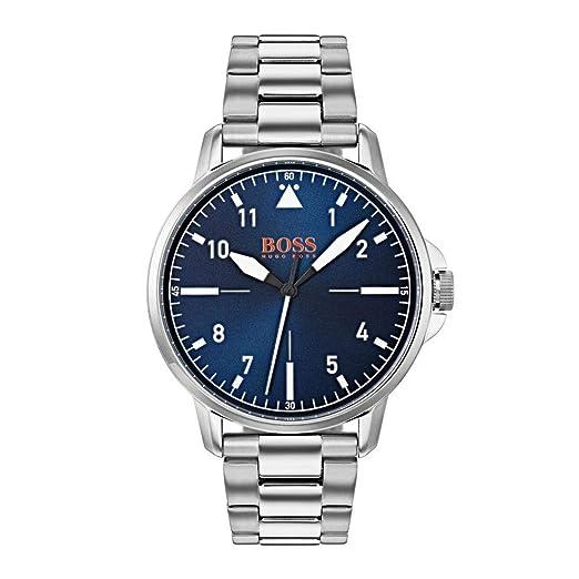 Hugo Boss Orange Reloj Analógico para Hombre de Cuarzo con Correa en Acero Inoxidable 1550063: Amazon.es: Relojes