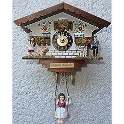 Quartz Heidi's Chalet Clock With Girl on Swing