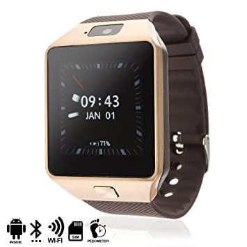 DAM - SMARTWATCH PHONE AK-QW09 CON ANDROID 4,4 3G/WIFI/Android GOLD alarma, reproductor de video, calendario, calculadora, grabación de voz, email, ...