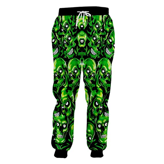 Pantalones de chándal Hombre Hip Hop Pantalones de Calaveras ...