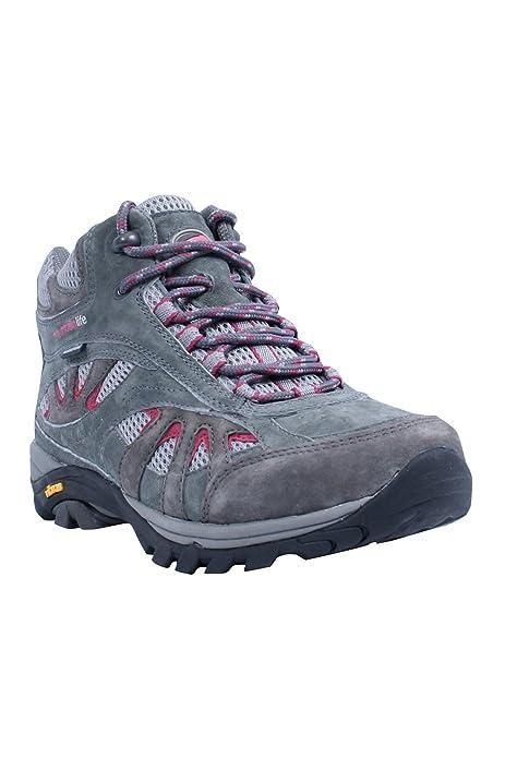 Mountain Warehouse Zapatos Botines A Prueba de Lluvia Excursiones Senderismo Marcha Para Mujer Gris oscuro 40.5: Amazon.es: Zapatos y complementos