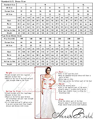 Annie's Bridal Off-Shoulder A-line Tulle Long Formal Evening Prom Dress Ball Gown for Women 2017