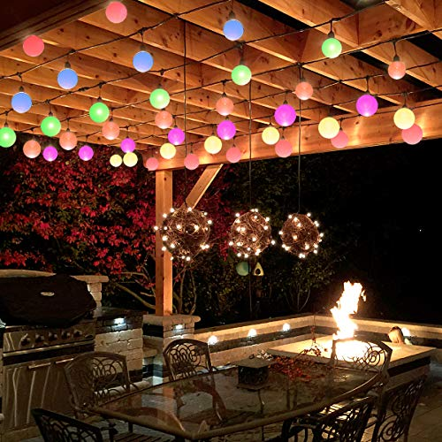 Areful Globe String Lights, 12FT RV Awning Lighting Strand ...