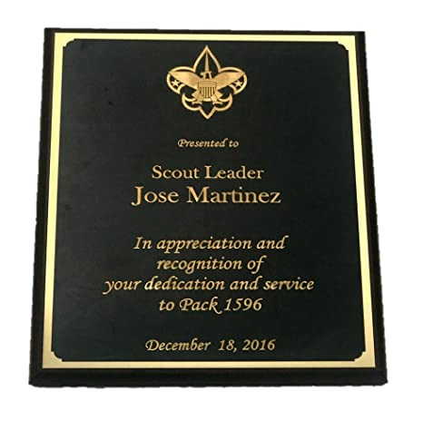 amazon com boy scout award eagle scout recognition plaque