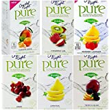 Crystal Light Pure On The Go Drink Mix Variety Pack, 6 Flavors, 1 Box of Each Flavor, 6 Boxes Total