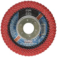 "PFERD 67234 Polifan PFR Curve Radial Type Flap Disc, Ceramic Oxide, 4-1/2"" Diameter, 7/8"" Arbor Hole, 13300 rpm, 60 Grit"