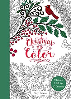 christmas to color 10 postcards 15 gift tags 10 ornaments - Mary Engelbreit Coloring Book