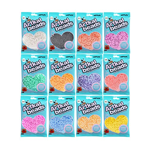 Artkal Beads 12 Colors Bag Set 1000 Count Bag Pack SB1000-12A to E for Choice (Funny Pics Kid Friendly)