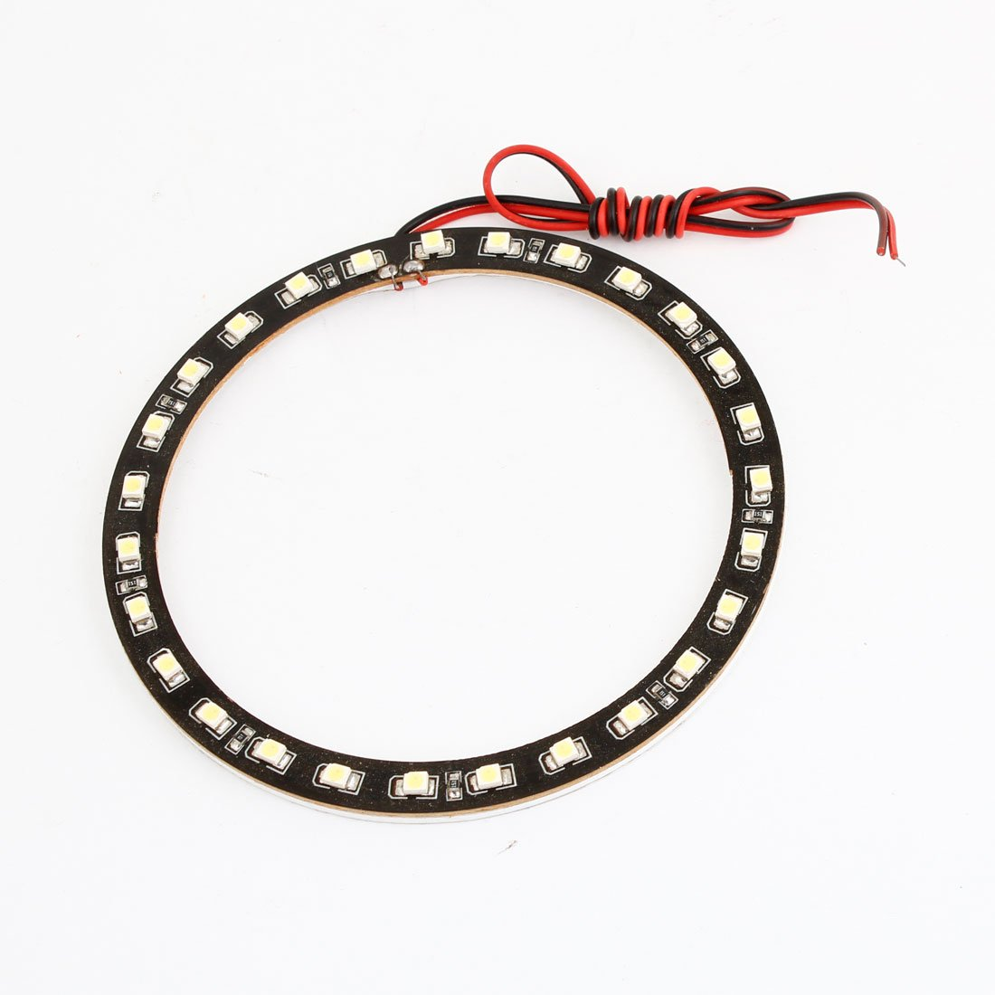 sourcingmap 100mm 1210 SMD 27 White LED Angel Eye Ring Lamp a13090600ux0394