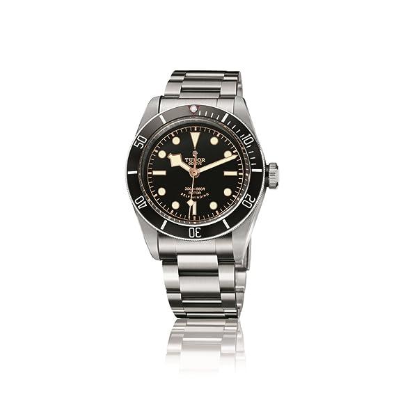 Tudor Patrimonio Negro Bahía Automático Negro Dial Mens Reloj 79220 N-ss