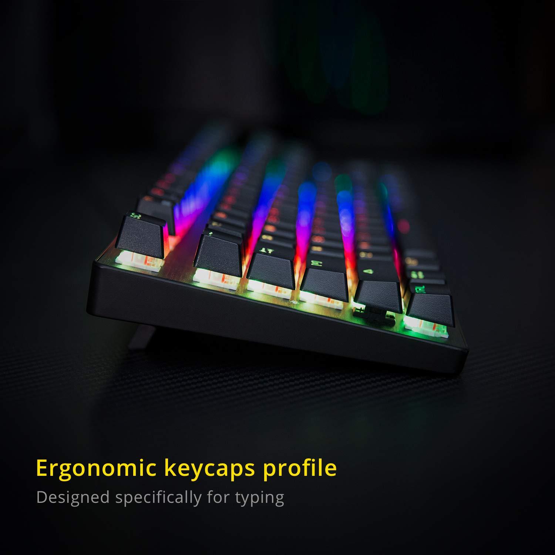 Amazon.com: DREVO Tyrfing V2 87Key RGB Backlit Mechanical Gaming Keyboard Tenkeyless Programming Macro Media Control Software Support Outemu Linear Red ...