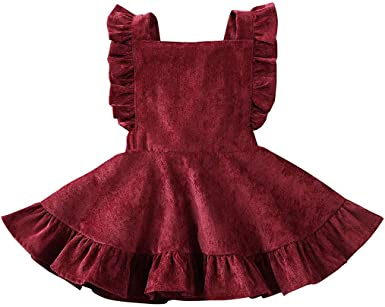Cyeer ❤ Ropa para bebé, Vestido para niña, Color sólido ...