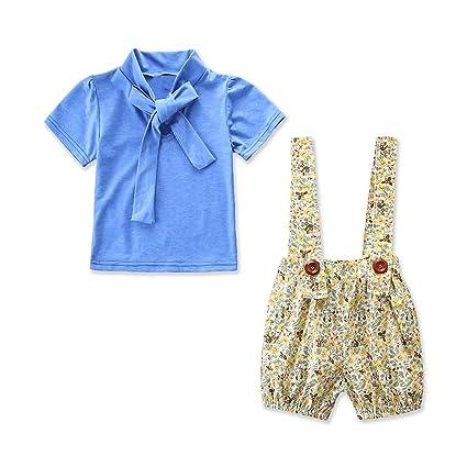 18a99299487d6 Amazon.com: Leyeet 2pcs/lot Kids Girls Clothes Bow Tie Shirt Tops + ...