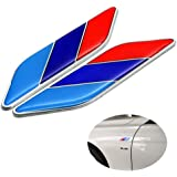 LLJ 2Pcs/Pair 3D Tricolor Flag Emblem Badge for All Models