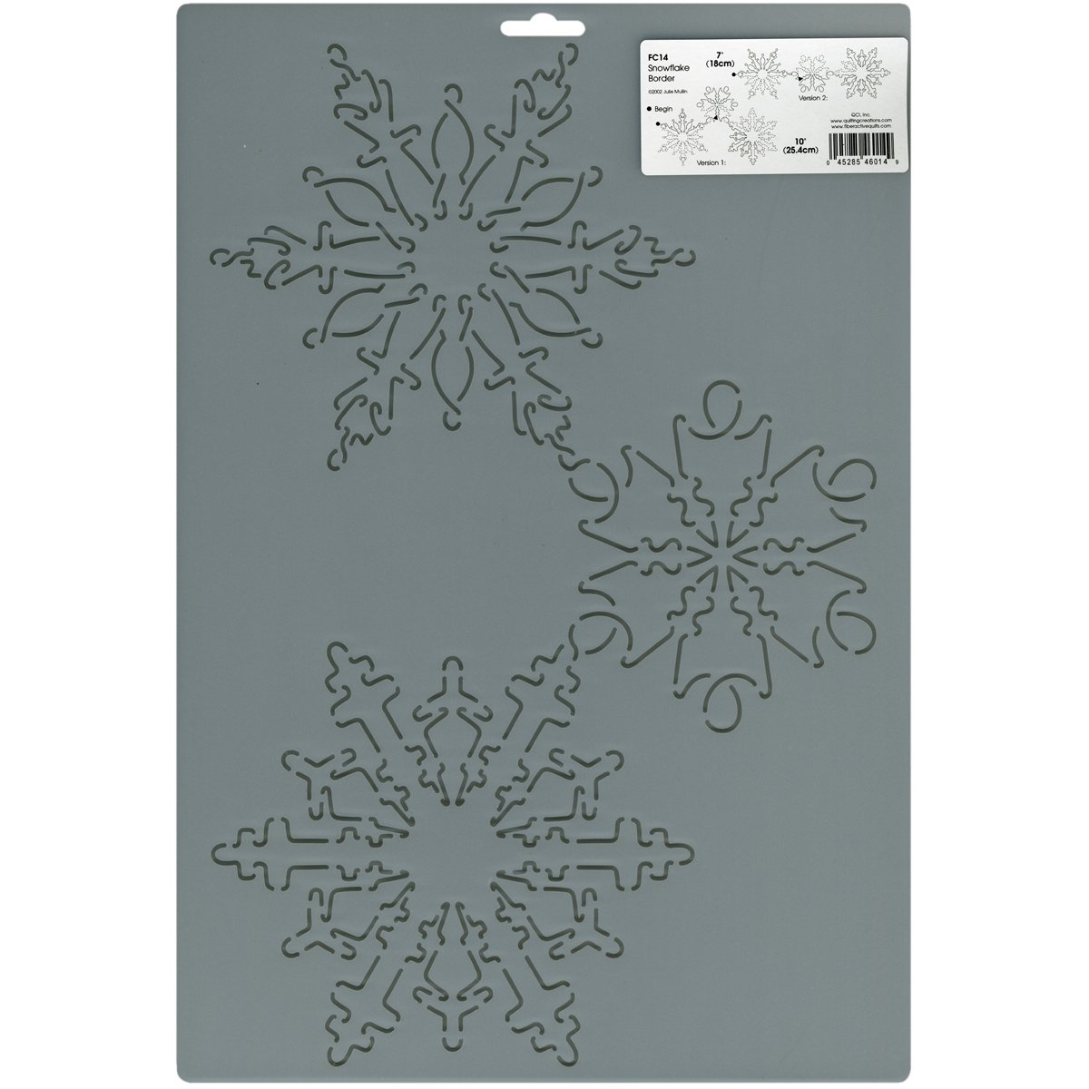 Sten Source FC-14 Stencils and Templates Quilt by Julie MullIn-7-Inch and 10-Inch Snowflakes 051216
