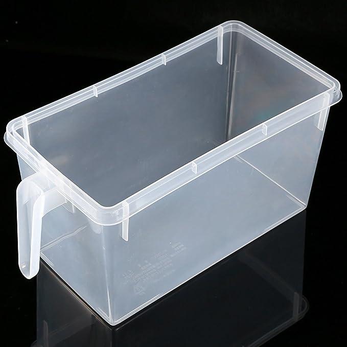 Yosoo Caja de plástico para el congelador/frigorífico, para conservar frutas y vegetales, con tapa y asa: Amazon.es: Hogar