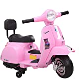 TOBBI Licensed Vespa 6V Kids Ride On Motorcycle Toys with Training Wheels Battery Powered Motorbike for Boys Girls in…