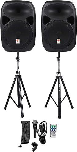 """Rockville RPG122K Dual 12"""" Powered Speakers"""