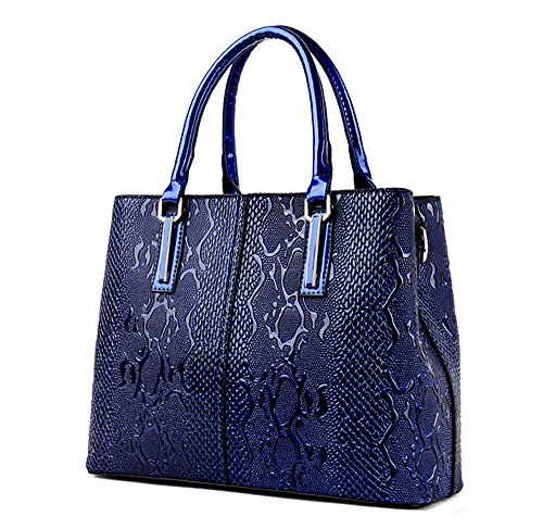 Office Dating Leather Blue Soft Tote Red Designer Luxury Handbag Bag Elegant Shopping Office Pinchu Women STqEp