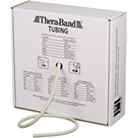 TheraBand Resistance Tubes, Professional Latex Elastic Tubing for Full Body, Core Exercise, Physical Therapy, Lower Pilates, at-Home Workout, Rehab, 100 Foot, Silver, Super Heavy, Advanced Level 2