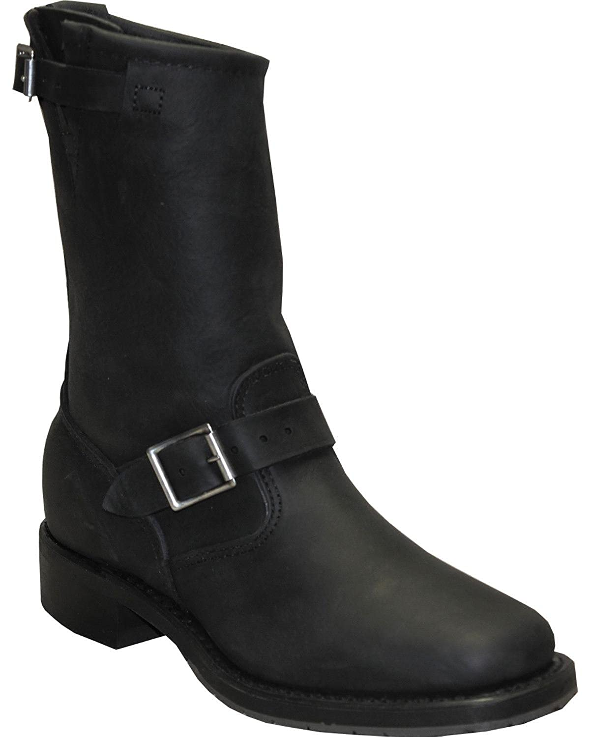 Abilene Mens Sage By 11 Engineer Boot Square Toe Black 9 D