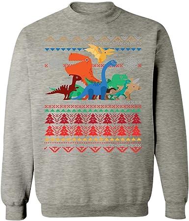 Ugly Christmas Sweater Trex Dinosaur Holiday Sweatshirt at