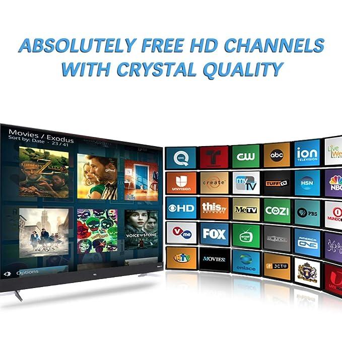 Amazon.com: Antena HDTV 2019, antena de TV digital de 120 ...