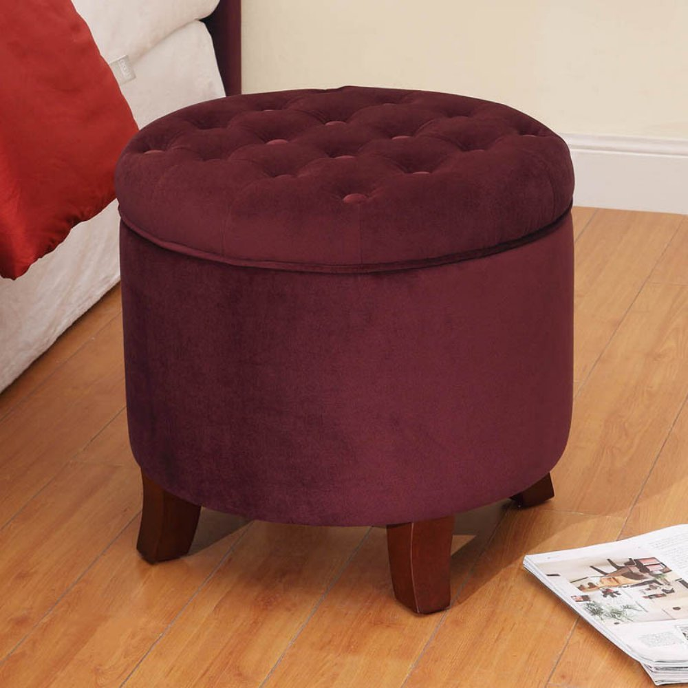 ottoman couch red design bucket